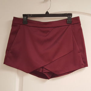 Express Wine Skort Wrap Front Holiday